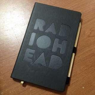 Radiohead 電台司令 義大利製皮革筆記本 附鉛筆 2016歐洲巡演官方商品