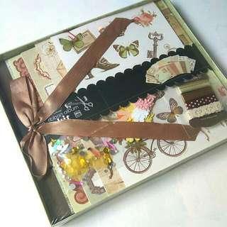 Vintage Ribbon Album Box Kit
