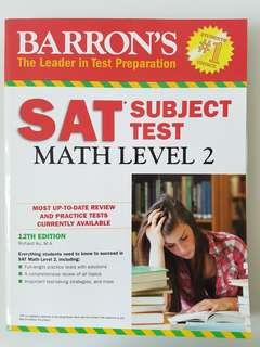 🚚 SAT BARRONS MATH LEVEL 2