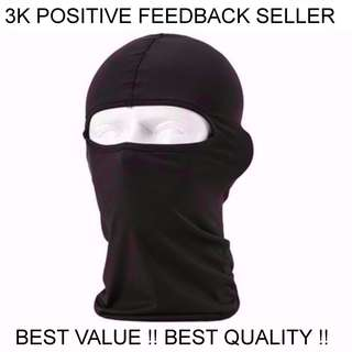 New Full Face Cover Balaclava Mask Helmet Cooling Motorcycle Black