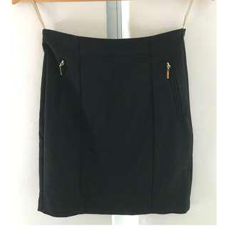 Forcast Black Fitted Skirt