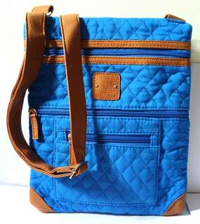 Stone Mountain Royal Blue/Tan Crossbody Bag