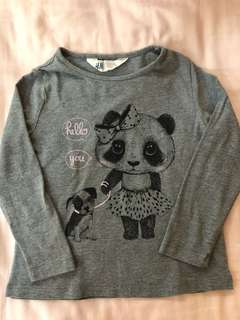 Girls H&M Long Sleeve Top