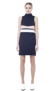 Collate the label high neck shift dress xs