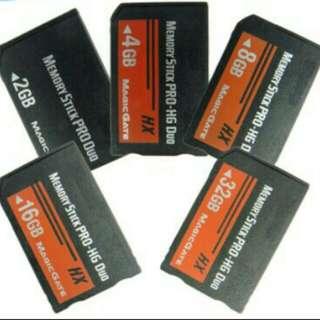 8GB & 16GB Memory card psp 1K, 2K, 3K