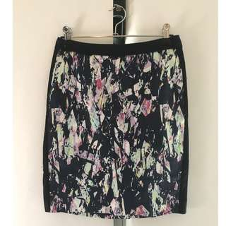 Tokito Navy Patterned Skirt