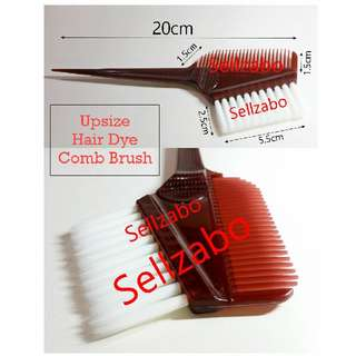 Hair Colour Comb Brush : Brushes : Salon Use : Apply : Applicator : Wash : Mask : Hair : Self : Dye : Highlight : Treatment : Brown Color : Colourings : Head : Scalp : Beauty Tools : Plastic : Sellzabo
