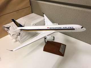 SIA A350 die cast plane model