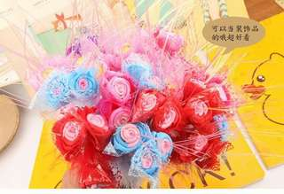 Pre order teacher day gift 3 flower rose pen