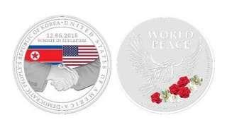 Trump-Kim Summit Silver Medallion