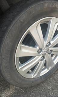Vios original rim with tyre