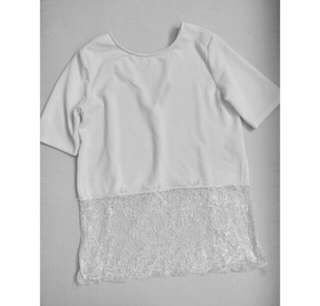 Import white lace top