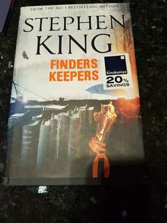Stephen King finders keepers hard cover