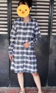 Flanel square dress