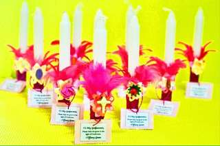 Customized Candles for Godparents