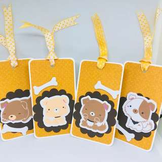Doggy gift tags (4pcs)