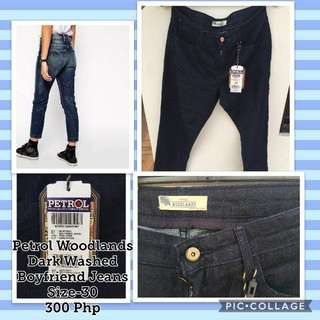 Petrol Woodlands Dark Boyfriend Jeans