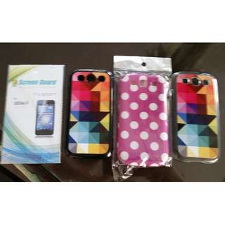 Samsung S3, HTC collection of screen protectors and cases
