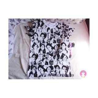 少女時代日本巡迴演唱會全新未着T恤 snsd girls generation love and peace Japan tour