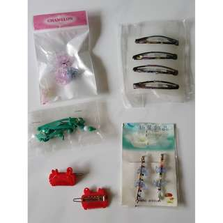 Assorted hairclips