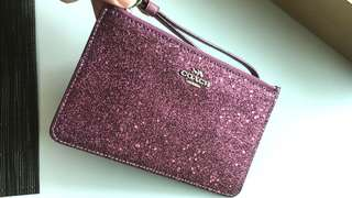 Coach Wristlet wine res
