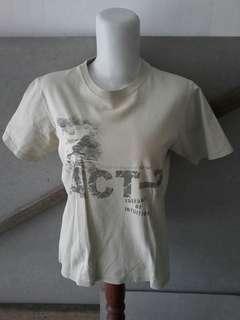 T shirt cream anak laki 8-10th