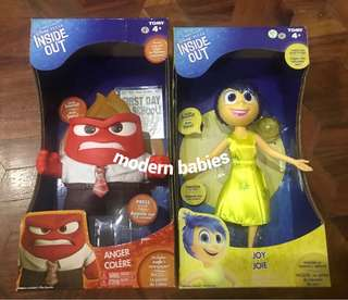 🍀 TOMY Disney Pixar Inside Out Mini Figure Joy and Anger