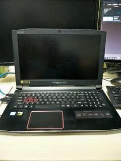 Gaming Laptop Acer Predator Helios 300 gtx 1060 6g i5 7300