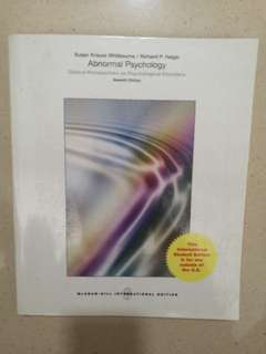 Abnormal Psychology 7e