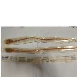 Foley Catheter.  3 pieces available. 1 in size 12 & 2 in size 14.