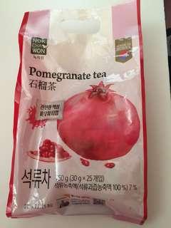 韓國五味子茶及石榴茶 $50/1包 1包有25小包