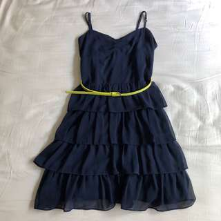 Aeropostale Dress with Ruffled Tiered Skirt