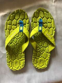 Yellow Green Treck Slippers