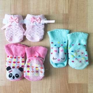 [3 for RM50] Baby Girl Socks