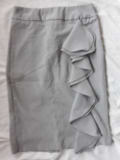 Charlotte Russe grey pencil skirt