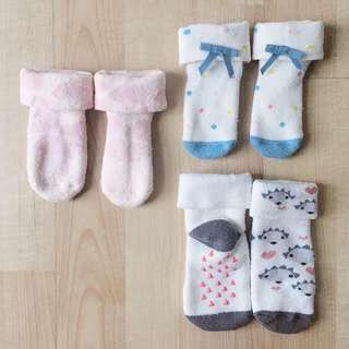 [3 for RM50] H&M Baby Socks (thick)