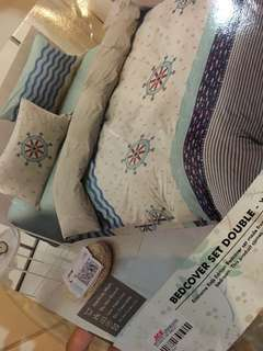 sprei set bedcover size 180