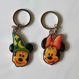 Disney Mickey and Minnie keychains