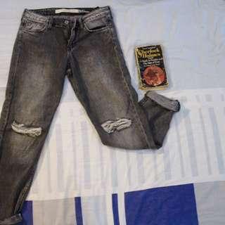 Zara Distressed Faded Pants