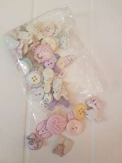 Baby style buttons