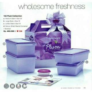 Plum collection tupperware