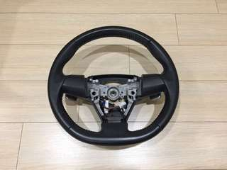 Toyota wish leather paddle shifter steering wheel