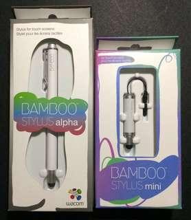 Wacom Bamboo Stylus Alpha (White) & Bamboo Stylus mini set