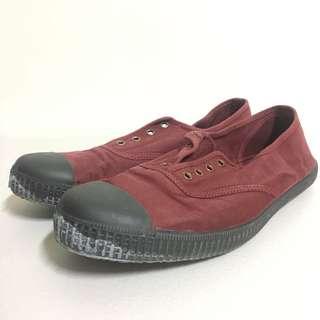 🚚 西班牙帆布鞋CIENTA   黑頭暗紅   香香鞋