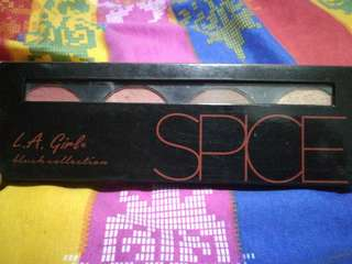L.A GIRL SPICE BLUSH, CONTOUR AND BRONZER