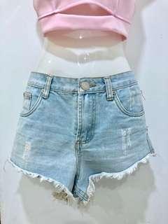 KITSCHEN High Waisted Jeans Shorts