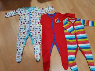3 Mothercare Sleepsuit 9-12 mths