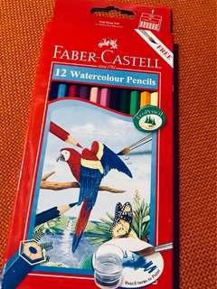Faber-Castell 12 Watercolour Pencils
