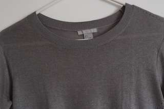 Gray Cotton 3/4 Sleeves
