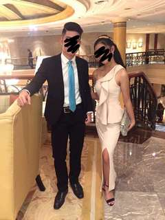 Nude Long Dress FOR RENT